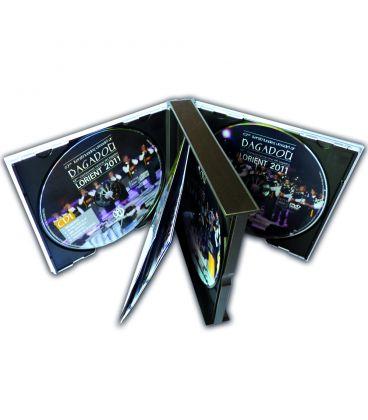 Pressage de CD en boitier multipack avec 2, 3 ou 4 disques