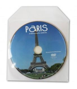 pressage DVD pochette plastique transparente dos autocollant